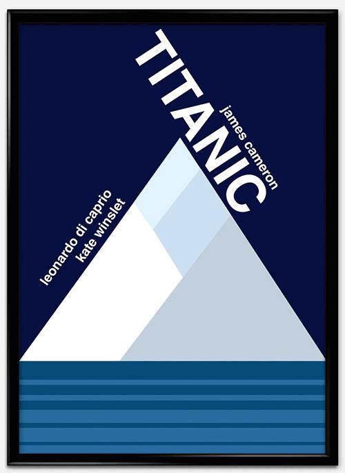 瑞士风格 海报 titanic_mock