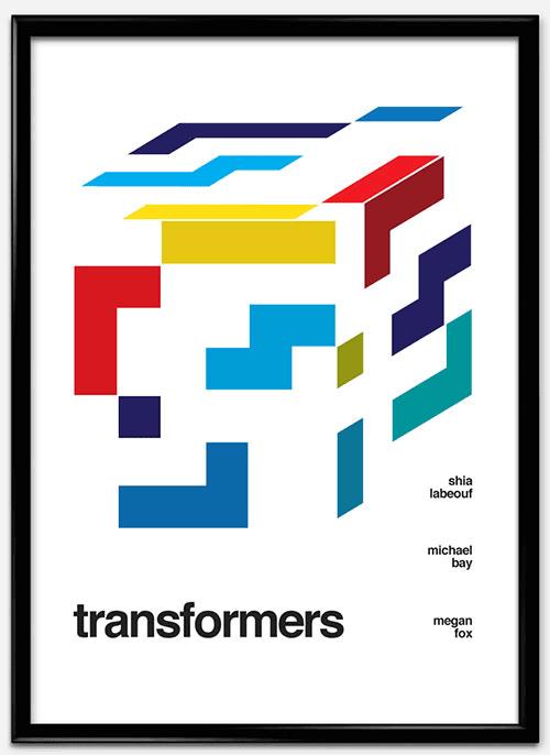 瑞士风格 海报 trasnformers_mock