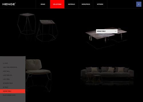 furnitures and design CSS网站作品