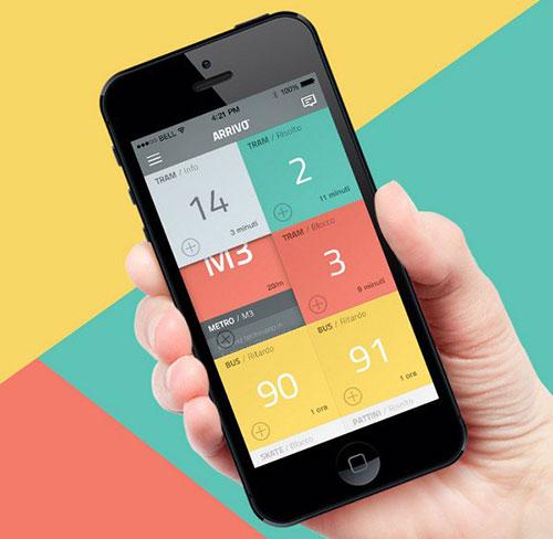Arrivo Mobile App 导航设计 界面设计