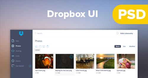 Dropbox同步软件UI PSD下载