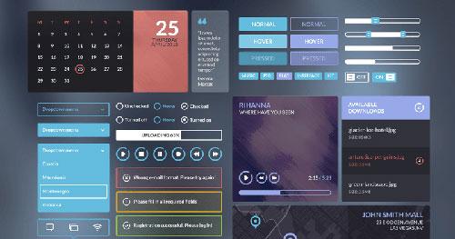 Iceberg Elegant UI Kit PSD素材