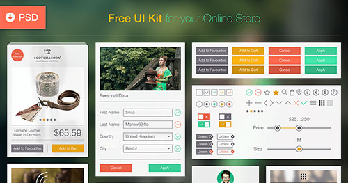 免费 UI Kit [PSD] PSD素材