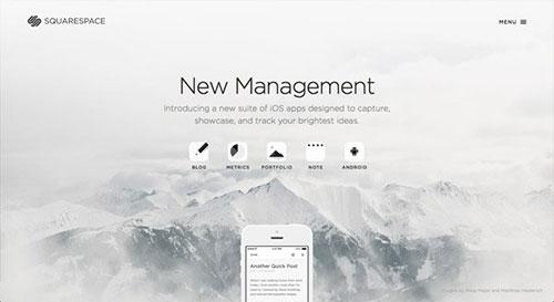 Squarespace Mobile Apps 网页设计欣赏