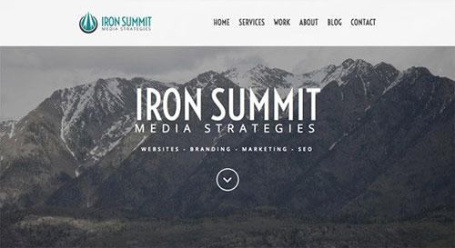 Iron Summit Media Strategies 网页设计欣赏