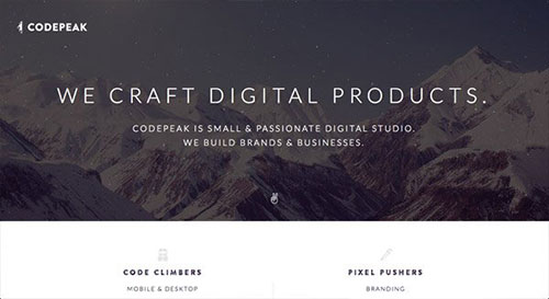 Codepeak Studio 网页设计