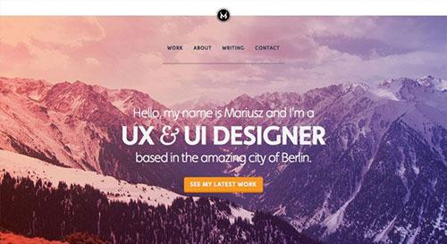 Mariusz Ciesla 网页设计欣赏