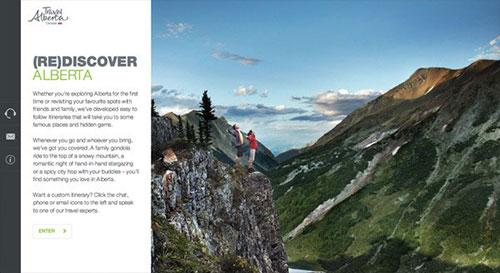 Travel Alberta Tripplanner 网页设计欣赏