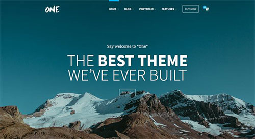 One WordPress Theme 网页设计欣赏