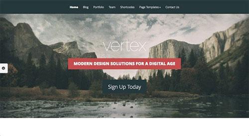 Vertex WordPress Theme 网页设计欣赏