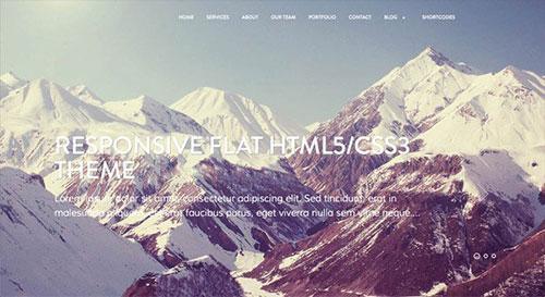 Mountain WordPress Theme 网页设计