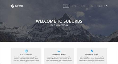 Suburbs WordPress Theme 网页设计