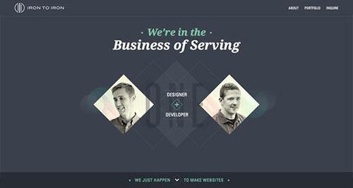 图形排版的网页设计作品,这些案例比起其它普通布局的网站看起来更有