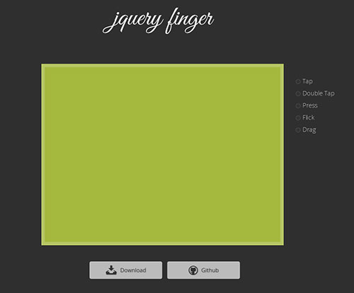 jQuery Finger 手机插件 jQuery插件