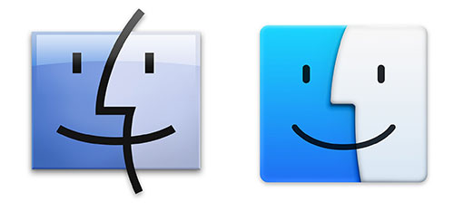 Finder Mavericks vs Yosemite 图标