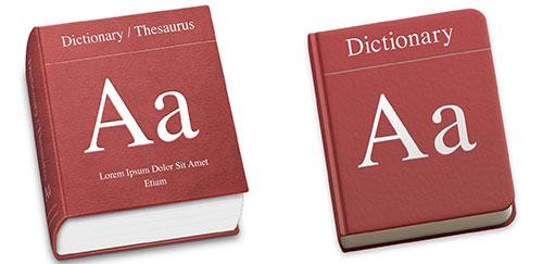 dictionary 图标