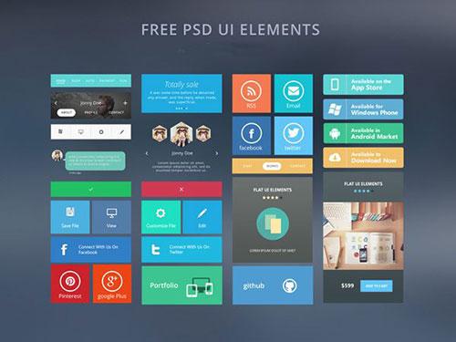 Free_PSD_UI_elements UI设计素材