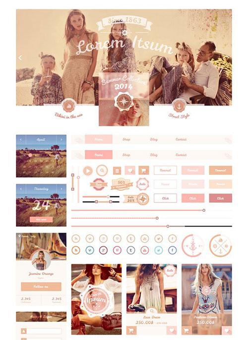 fashion-junkie-kit UI设计素材