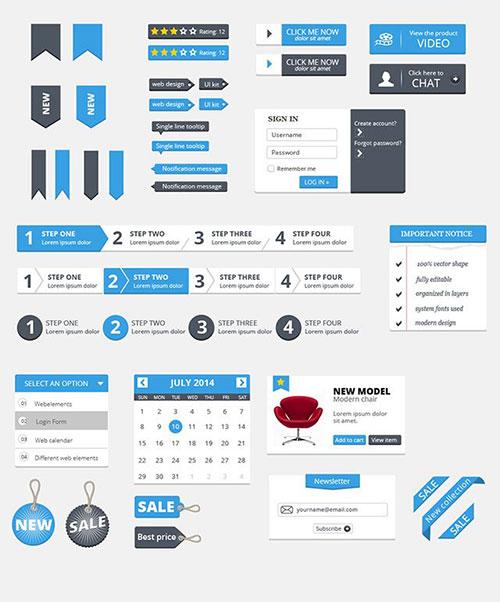 Free-Clean-UI-Kit UI设计