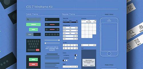 ui_kits_templates_wireframe UI设计 PSD素材