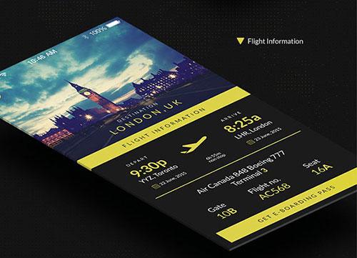 Flybi-IOS-Application UI设计 PSD素材