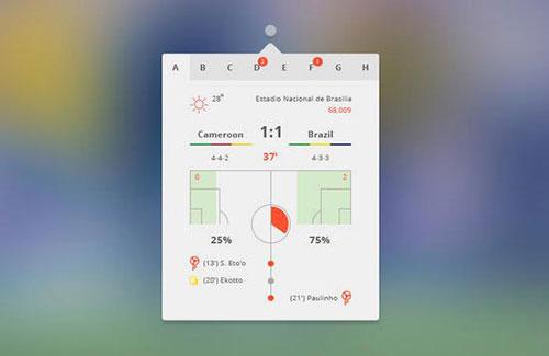 soccer UI设计 PSD素材