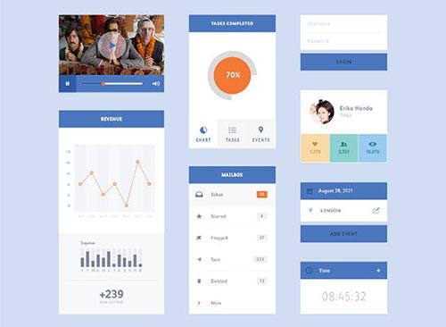 flat-ui-kit-preview UI设计 PSD素材