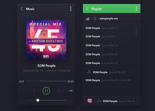 music APP设计 PSD素材
