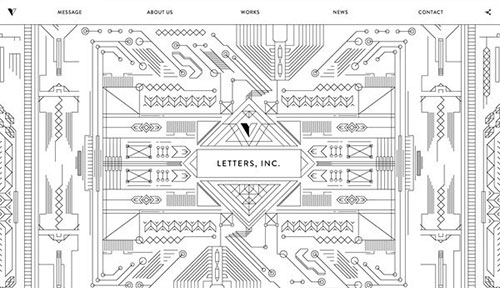 Letters, Inc. 网页设计欣赏