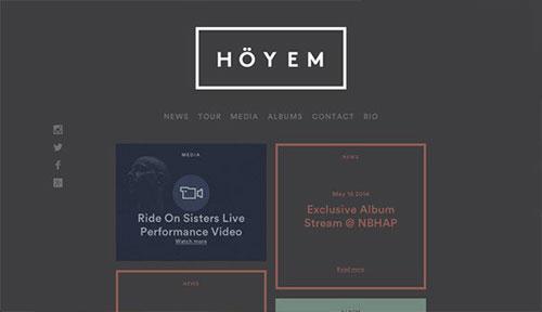 Sivert Høyem 网页设计欣赏