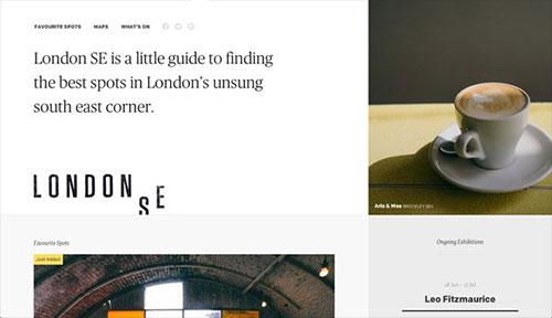 London SE 网页设计欣赏