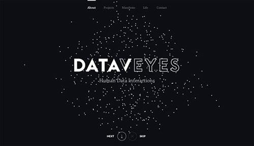 Dataveyes 网页设计欣赏