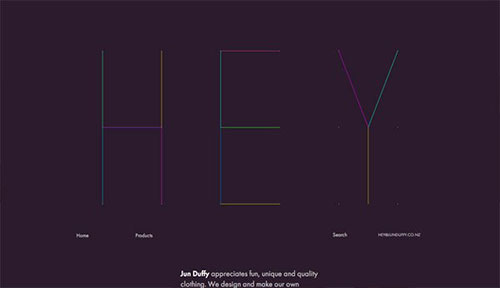 Jun Duffy 网页设计欣赏