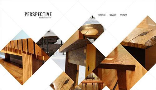 Perspective Woodworks & Design 网页设计欣赏