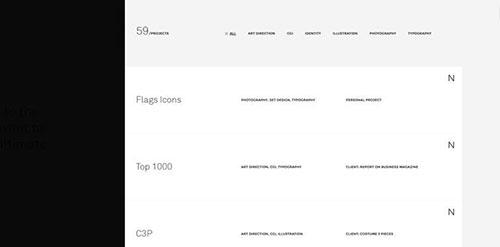 网页菜单 设计灵感