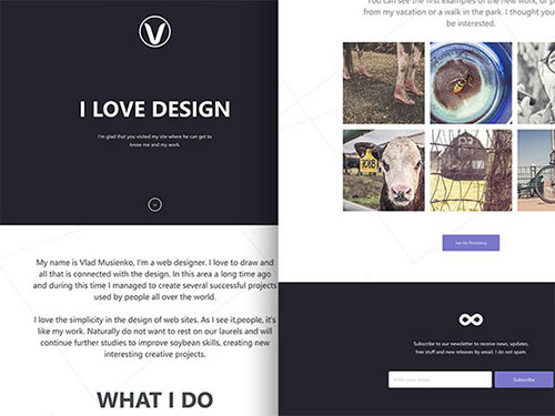 Lithium-free-onepage-template 网站模板
