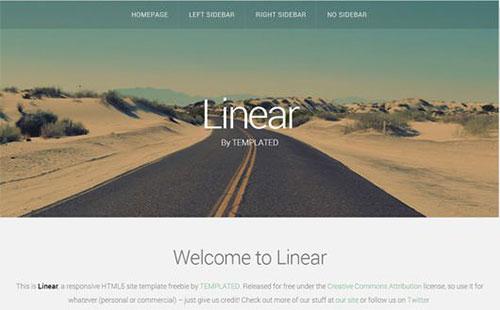 linear 网站模板