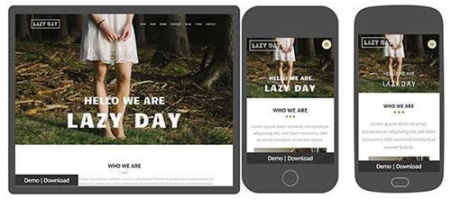 lazyday 网页模板