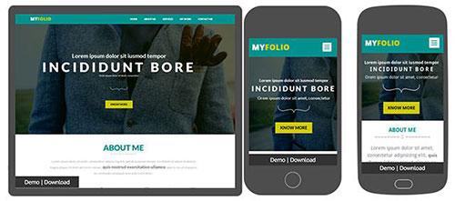 myfolio HTML模板