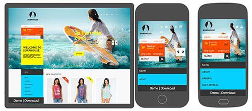 surf-girl-in-california HTML模板