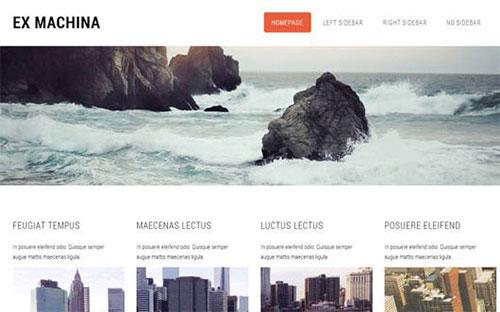 Exmachina 网站模板