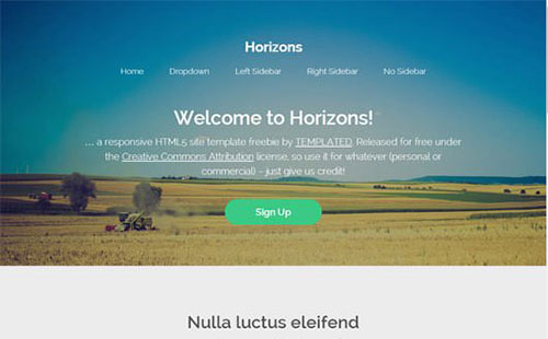 Horizons 网站模板