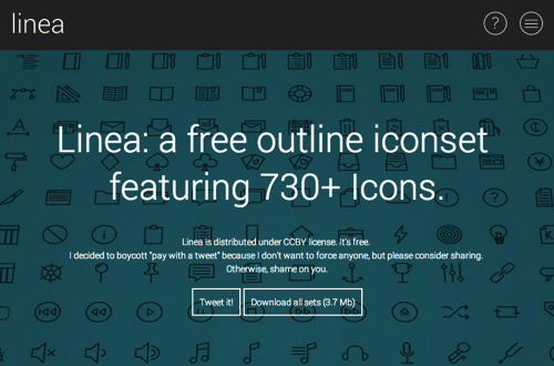 730个免费线性图标 – Linea