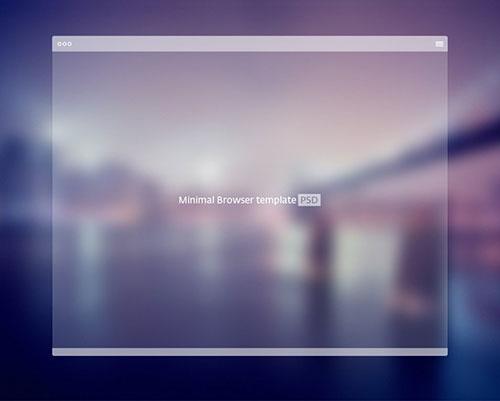 浏览器 PSD