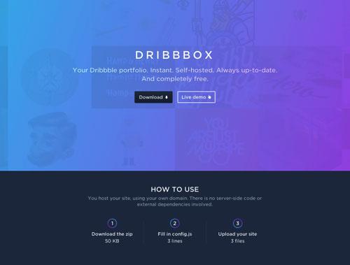 Dribbble 网站模板