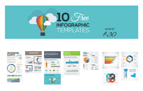 10组免费信息图制作矢量素材