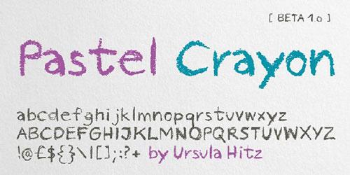 60个手绘、涂鸦、手写风格英文字体下载