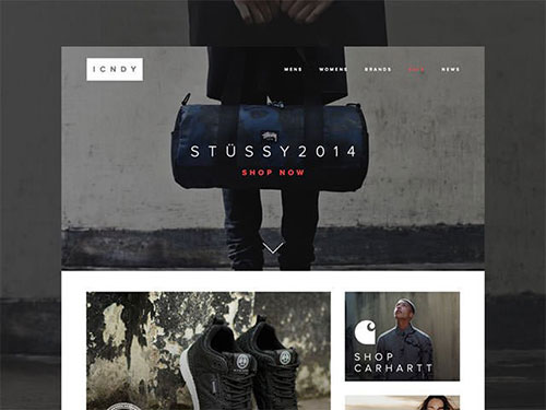 icndy-shot 网页模板