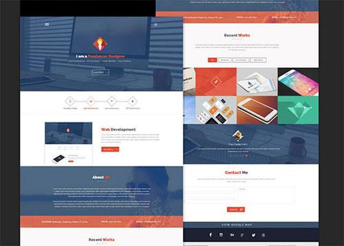 flatstyle 网页模板