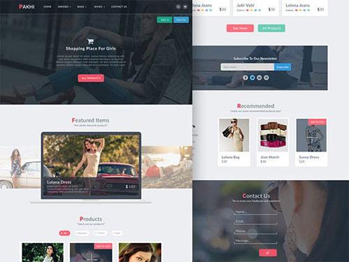 Pakhi 网页模板